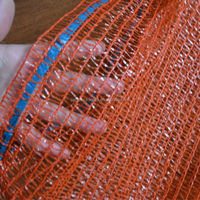 Best price and high quality orange color fruit mesh bag