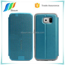 Dot View Smart Filp Leather cell case cover for samsung s6
