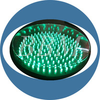 8 inch Green Led Traffic Signal Module With ClearLens