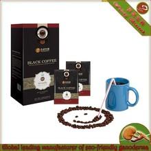 Delicious and healthy ganoderma black coffee