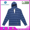 65 polyester 35 cotton T/C t shirt yarn dyed hooded t shirt with Full Sleeve striped hoodie
