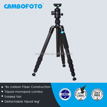 Carbon tripod camera lens holder monopod with legs