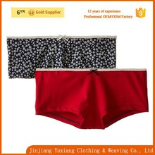 wholesale comfortable cotton spandex women's boyshort panty