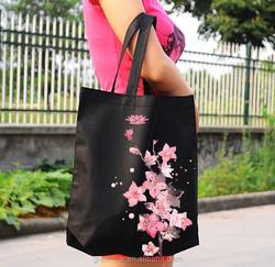 OEM big size cotton shopping bag handbag organizer