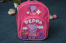China alibaba hot sale pappa Pig lovely girls Sports backpack Children's school bag