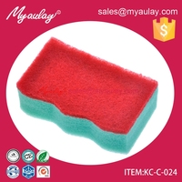 KC-C-024 Hight quaity cleaning products kitchen foam sponge utensile cleaning scrubber