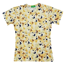all over pet dog sublimation printing t-shirt unisex