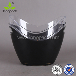 bowl clear and black 8l acrylic ice bucket cooler