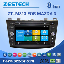 New two din touch screen car dvd gps for Mazda 3 with built in gps navigation