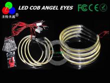 China manufacturer 4 x 146mm car led headlight cob angel eyes ring for bmw e38 e39 e36 e46 e90 led cob halo ring angel eyes