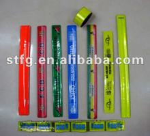 Personalizar todo tipo de tamaño Color alta visibilidad Slap Wrist Band