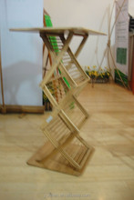Made in China Indoor display Expandable Bamboo Brochure shelf