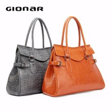 Stone Print Genuine Leather Women Handbags