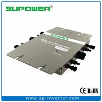 Waterproof IP65 1200W Solar Micro Grid Tie Power Inverter with Power line Comm