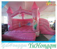 2015 Small Indoor Pink Inflatable Bouncer Combo with Slide for Kids