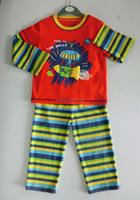 100% cotton long sleeve sleepsuit baby pajamas baby cotton night suits