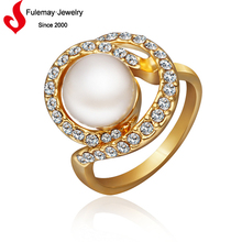 2015 Chinese fashion pearl moti ring designs for women