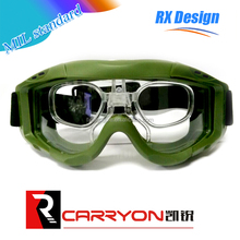 MIL CE standard high anti impact airsoft bulletproof goggle,safety RX ballistic airsoft tactical goggle
