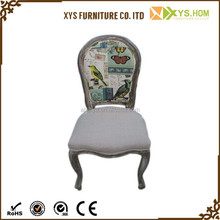 Fashionable Design Cheap But Strong French Style Dining Chair Wood