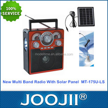 Solar powered AM FM SW radio with USB SD TF Card player function and rechargeable battery