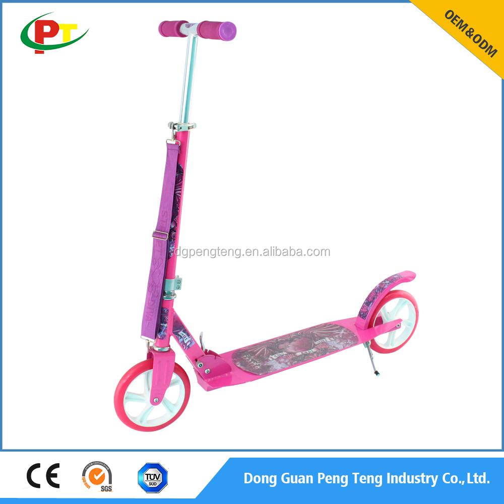Personalizzabile pieno in alluminio 205mm adulto PU ruote scooter calcio
