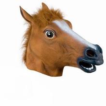 Creepy Horse Mask Head Halloween Costume dance fashion mask Latex Rubber