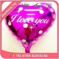 dongguan heart shape balloon round shape balloon foil balloon