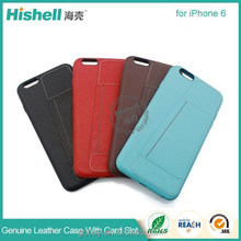 Unique design PU leather mobile phone case with card solt for iphone 6/6 plus
