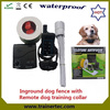 rechargeable and waterproof wireless dog fence system with 300 meter dog training collar