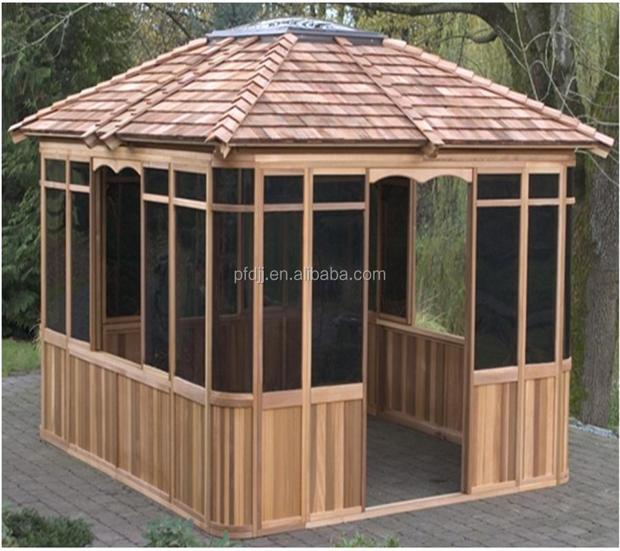 Prefabricated Wooden Gazebo Hot Tub Manual Assembly