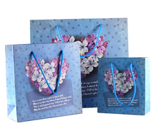 flower paper carry gift bag with handle