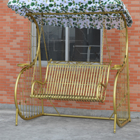 Outdoor Patio Balcony Adults Metal Wrought Iron Swing