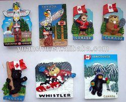 3d souvenir magnets for fridge/resin fridge magnet