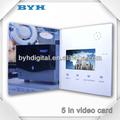 oem 1gb negocio hd 5 pulgadas de pantalla táctil de colores de impresión de la revista de vídeo
