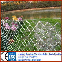 galvanized chain link fence(diamond wire mesh)/pvc coated chain link fence