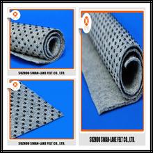 Grey Polyester Needle Punched Felt Anti-Slip PVC Dot Coated Nonwoven Backing Cloth