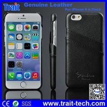 Genuino Cuero Rígido Case Forro Con Tarjeta Ranura Para iPhone 6 4.7 inch