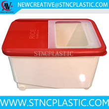 Food Containers Nest RED STORAGE CONTAINER sushi rice plastic container- 10 liters