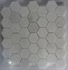 Irregular Hexagon Shape Marble Mosaic Bathroom Floor Tiles design