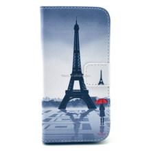 Paris Eiffel Tower Wallet Case For Samsung Galaxy s5 mini, pu flip leather phone case for samsung s5