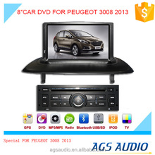 """8""""special touch screen for PEUGEOT 3008 Car radio with DVD Player GPS navigation bluetooth RDS SD"""