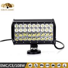 cruze led c ree light bar KR9041-108 projector 108w led headlight 11450Lm led Truck light bar