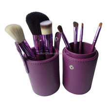 7pcs makeup brushes private label,pretty beauty tools with cup holder