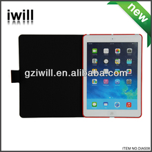Stylish tablet stand leather case for ipad5 with 360 rotatable