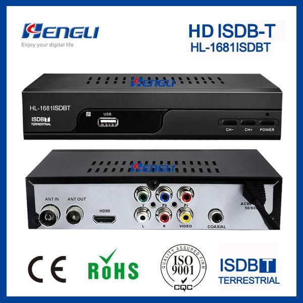 2017 HD ISDB-T tv receptor Decodificador de canales hd al aire libre isdb-t brasil decodificador