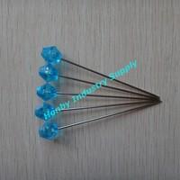 bulk wholesale plastic 3 inch blue pearl head corsage pins