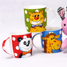 China Supplier high quality cheap coffee mug with animals design changing use customer design
