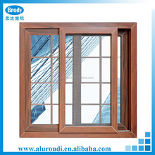 Cheap Price Sliding aluminum Window with grill design