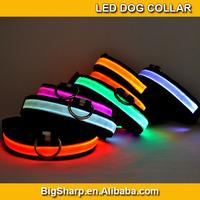 50pcs Adjustable LED Dog Collar Glow Flashing Light Up Pet Necklace Nylon Luminous Safety Collar Size S M L Drop ship DC-2501