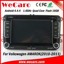 HD Quad Core 2 din car gps navigation for volkswagen amarok 2010 2011 Bluetooth DVD Video map google phonebook